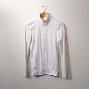 Champion white zip jacket